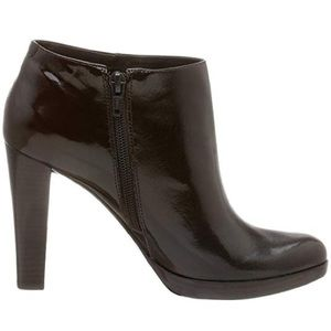Nine West Brown Patent Leather Booties Size 9.5